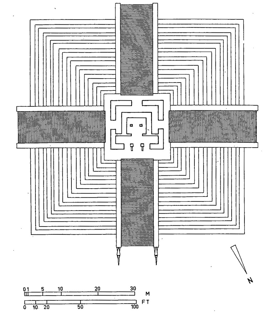 Drawn pyramid mayan temple Architecture 3 Mayan 2 111