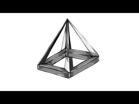 Drawn pyramid optical illusion Pyramid Optical Illussion YouTube an