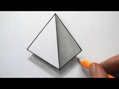 Drawn pyramid optical illusion Time Lapse YouTube  3D
