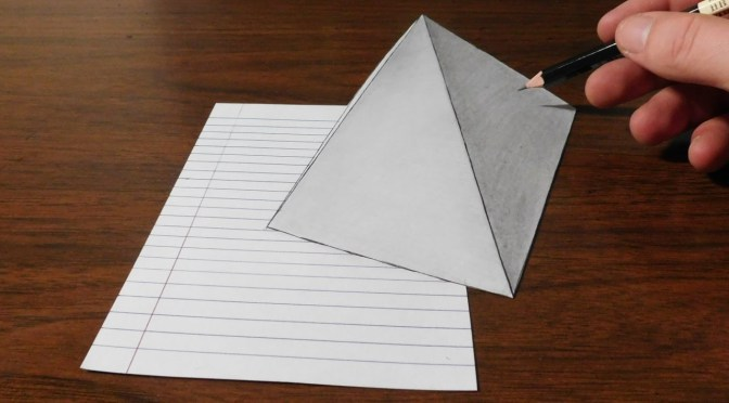 Drawn pyramid optical illusion – Optical Illusion Optical 3D