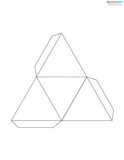 Drawn pyramid outline Paper Fold a paper Pyramid
