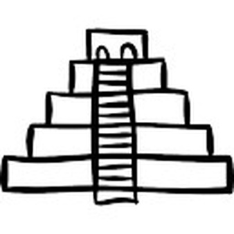 Drawn pyramid outline PSD Photos Free and Staired