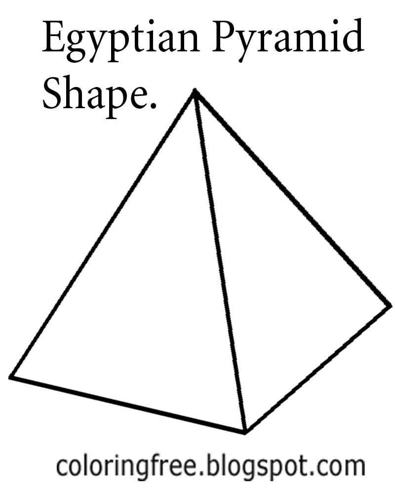 Drawn pyramid outline Pages shape teenagers Pictures coloring