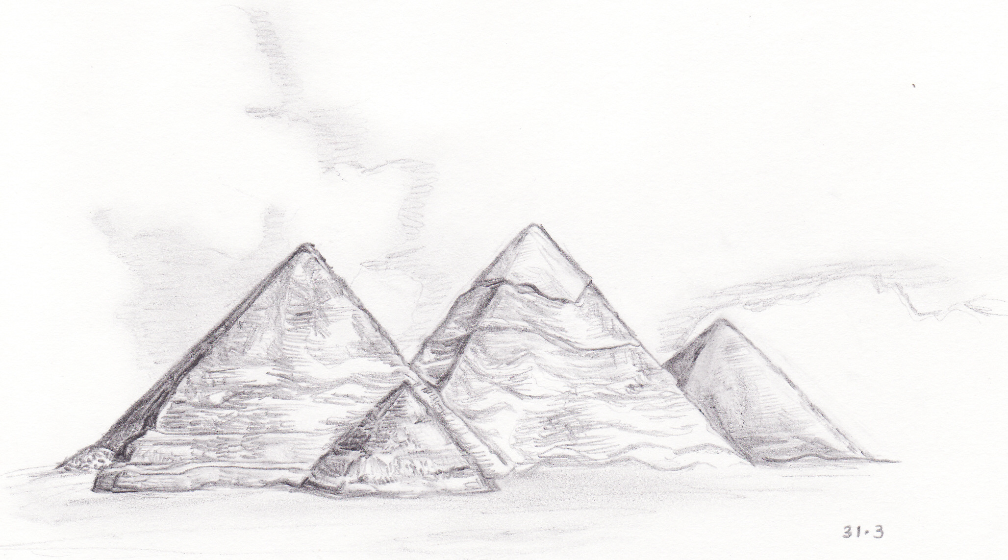 Drawn pyramid pencil Page Xin's (From Blog :)