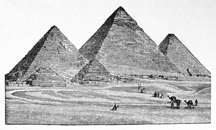 Drawn pyramid pencil Selected pyramids Rafaël texts egypt