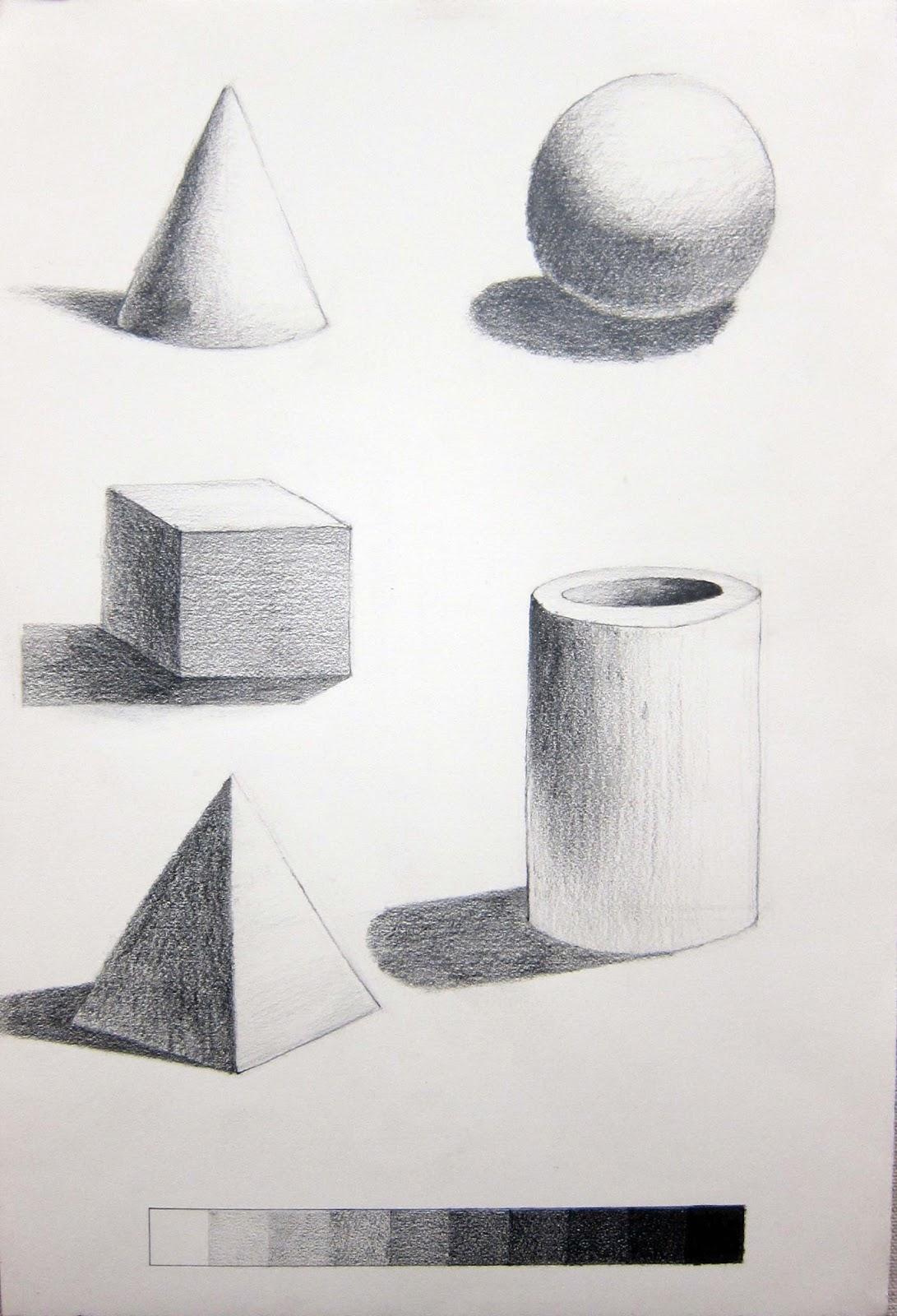 Drawn pyramid pencil Teach Composition William Beginning Drawing