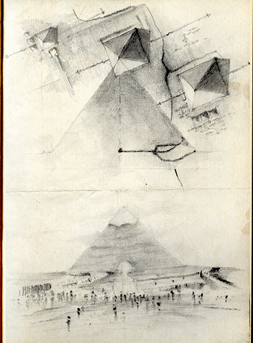 Drawn pyramid pencil Drawing H Giza The Khafre