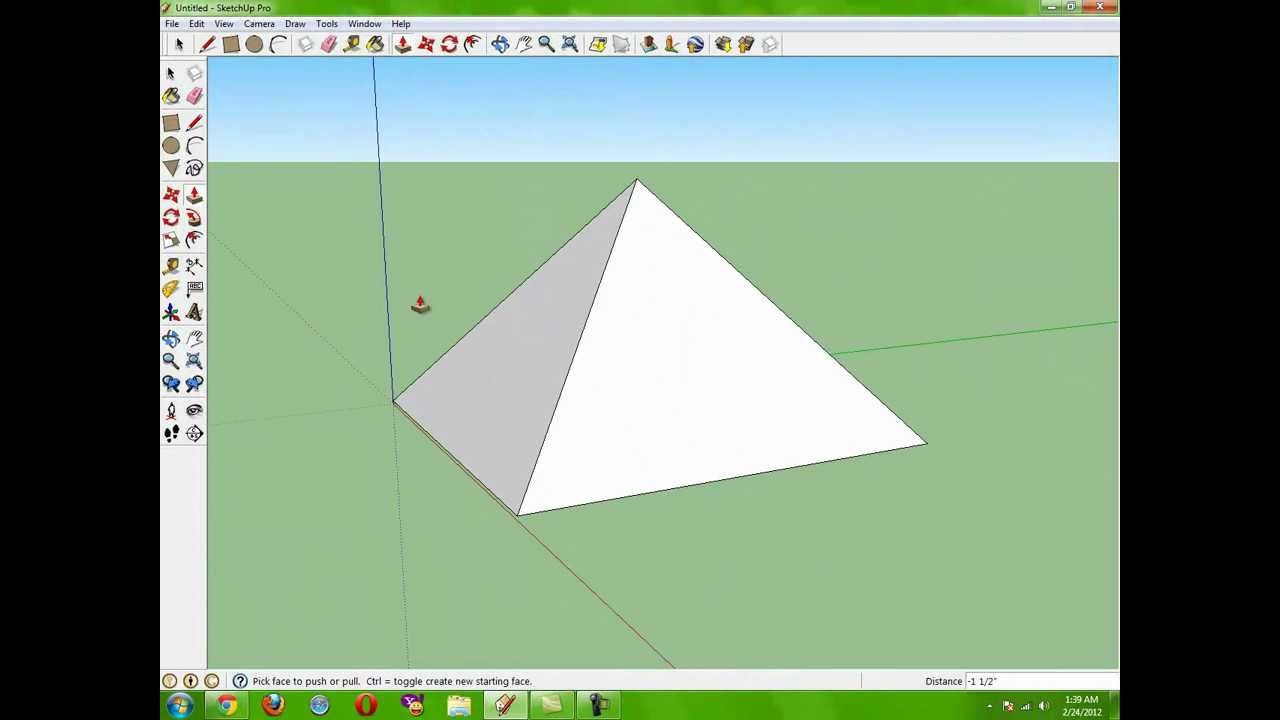 Drawn pyramid perfect Google Perfect Sketchup Make