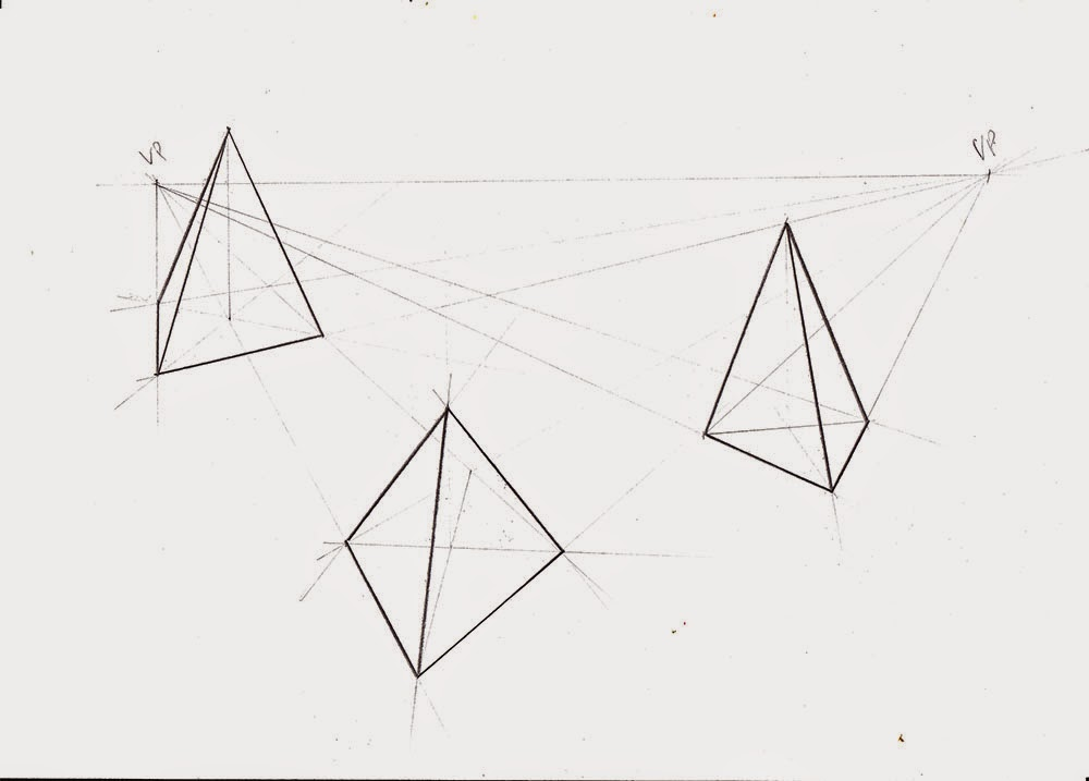 Drawn pyramid point perspective One more 1 I Doodles