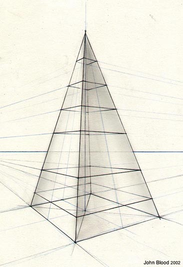 Drawn pyramid point perspective Pyramid — Danze Cube Blood