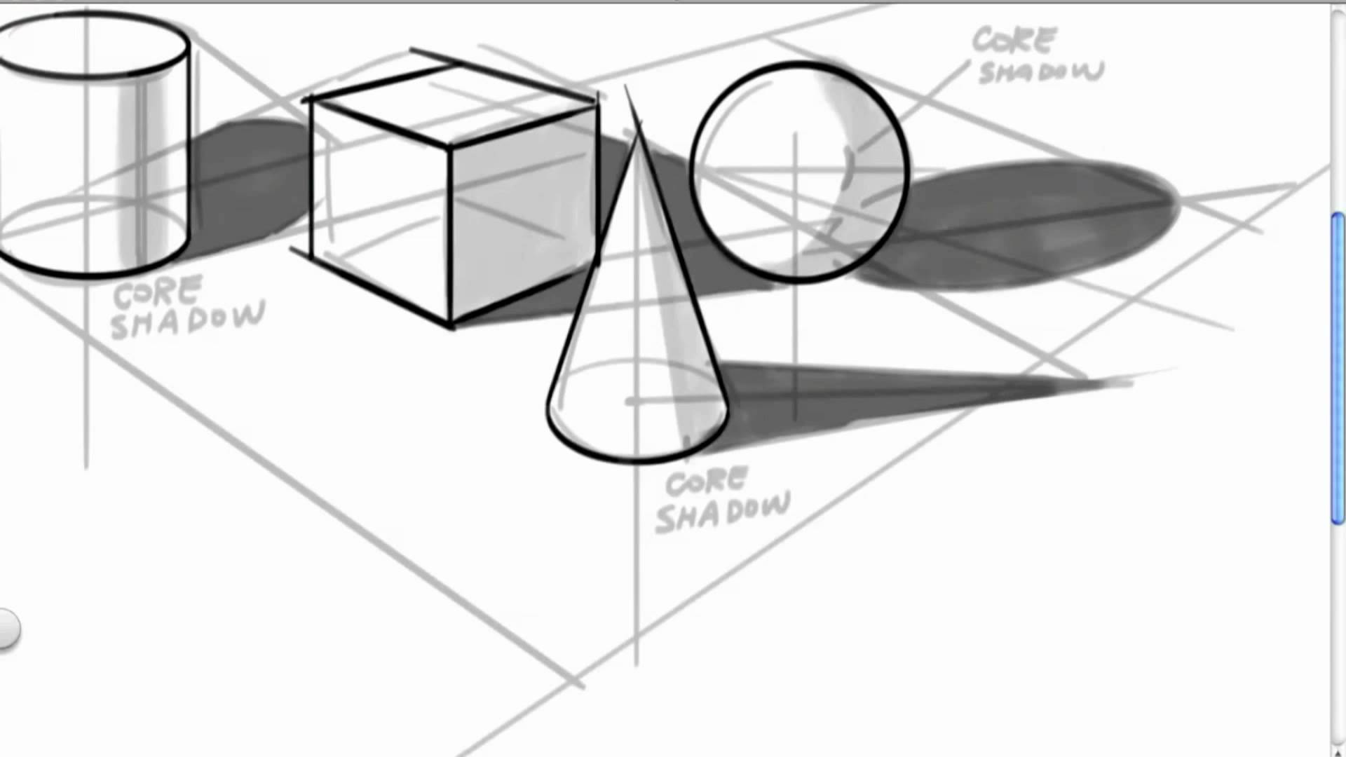 Drawn pyramid point perspective Perspective YouTube in 2 2