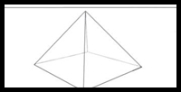 Drawn pyramid point perspective In Shade Drawing Lessons Pyramids