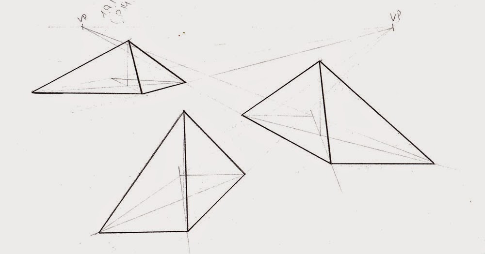 Drawn pyramid point perspective Pyramid Doodles tuts: point and