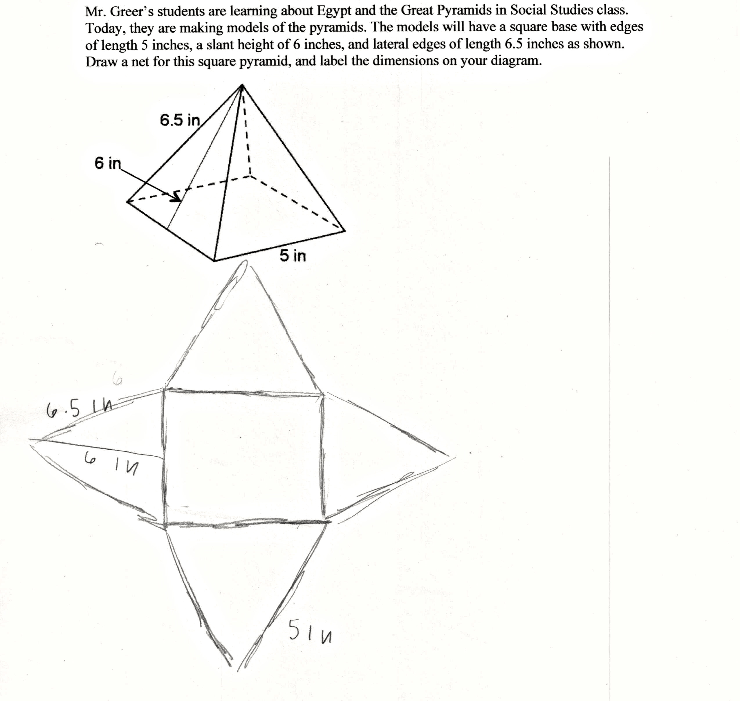 Drawn pyramid prism Draw more of the