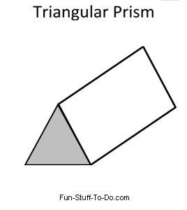 Drawn pyramid prism  Shapes Printable