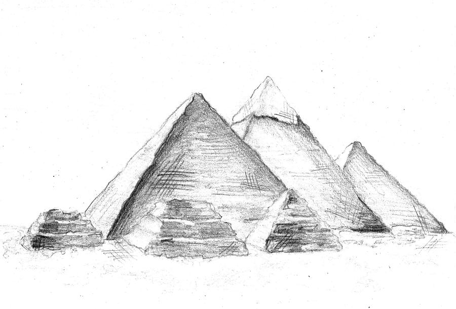 Drawn pyramid pyramid giza Caitlynn Jackson Giza Caitlynn Drawing