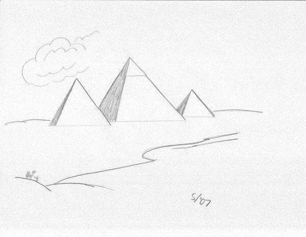 Drawn pyramid pyramid giza Art The Max of West