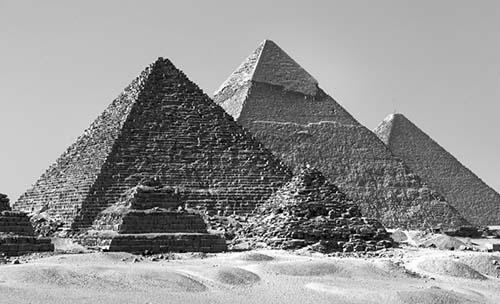 Drawn pyramid pyramid giza Crystalinks Egypt Archaeological  Discoveries