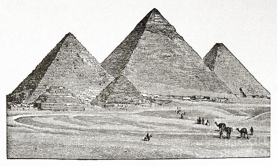 Drawn pyramid pyramid giza Drawing Pyramids Egypt Drawing Pyramids