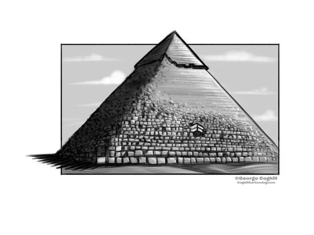 Drawn pyramid pyramid giza Coghill Cartooning Giza Sketch Cartoon