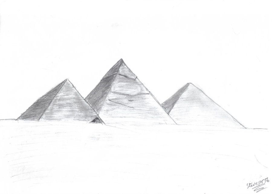 Drawn pyramid pyramid giza DeviantArt by stevepr56 Pyramids by