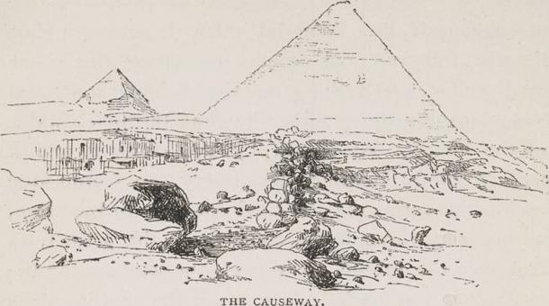 Drawn pyramid pyramid giza Pyramid for causeway The 1979