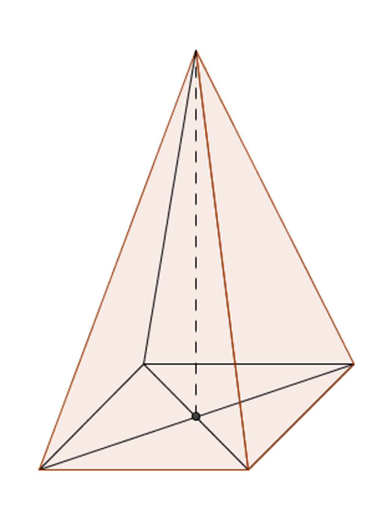 Drawn pyramid rectangular Type figures surface volume and
