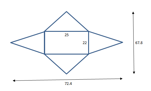 Drawn pyramid rectangular Question is A a The