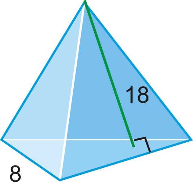 Drawn pyramid regular ) Example Volume 12 Surface