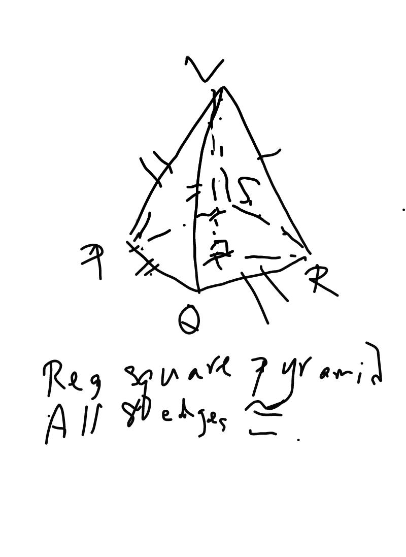 Drawn pyramid regular  special SAT pyramid regular