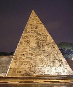 Drawn pyramid regular Cestius The the of of