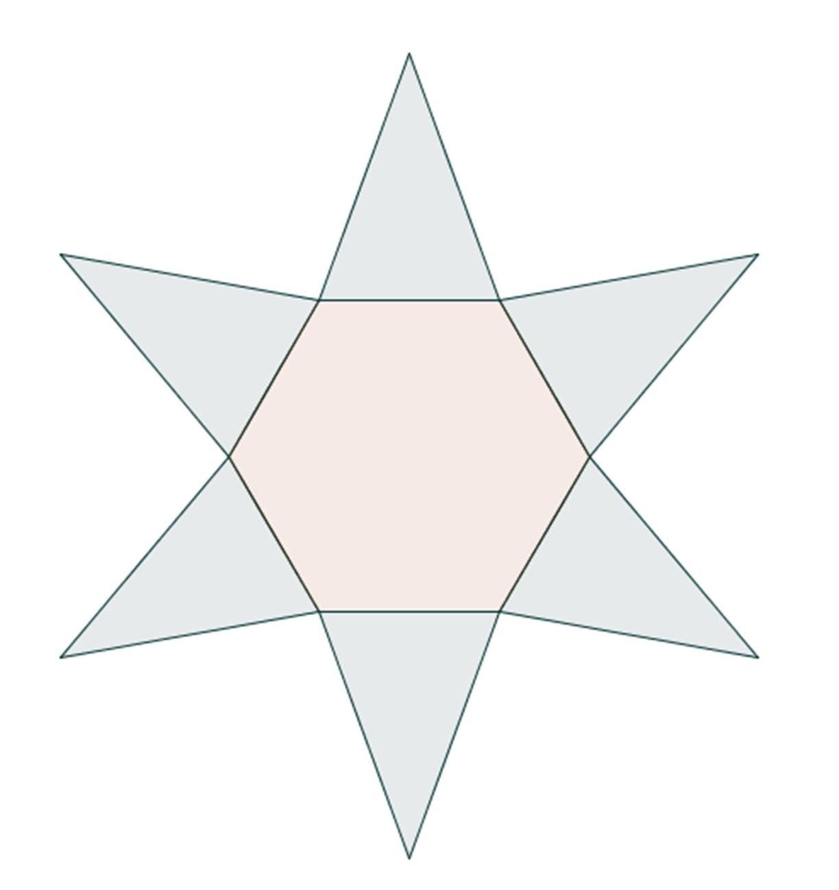 Drawn pyramid regular Of net Type a figures