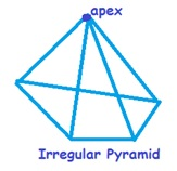 Drawn pyramid regular Drawn Area of Lateral height