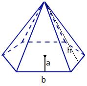 Drawn pyramid regular Math@TutorVista Hexagonal Area Surface Formula