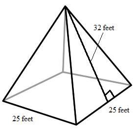Drawn pyramid right Surface pyramid 1 Area