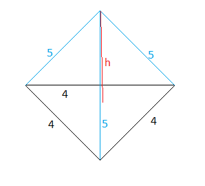 Drawn pyramid right Drawn The vertex equilateral side