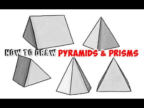 Drawn pyramid shaded Drawing Pyramids Step styles)