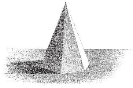 Drawn pyramid shaded How Adding shade edge Pyramids