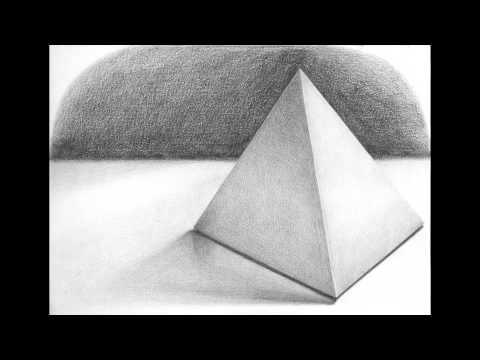 Drawn pyramid shaded Pyramid Square Square Pencil Pyramid