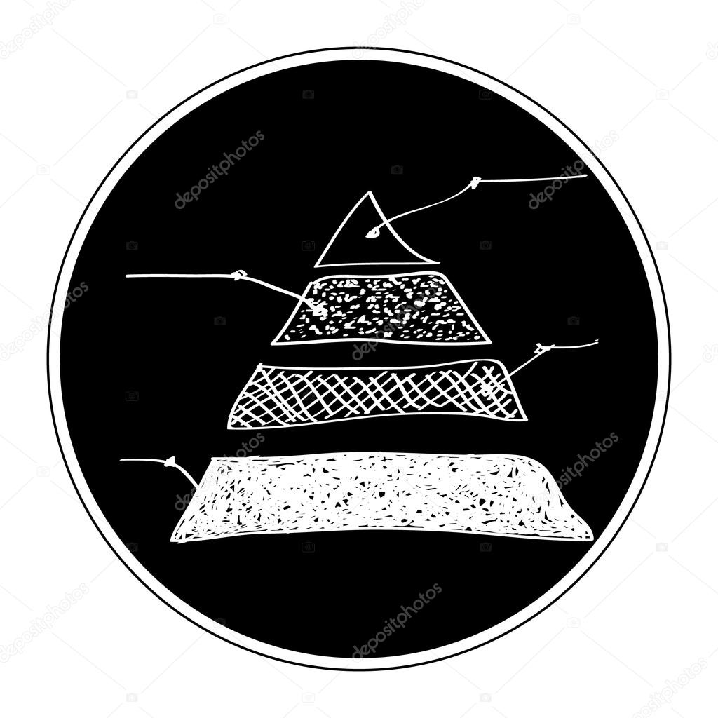 Drawn pyramid simple Doodle © a Simple #97250438