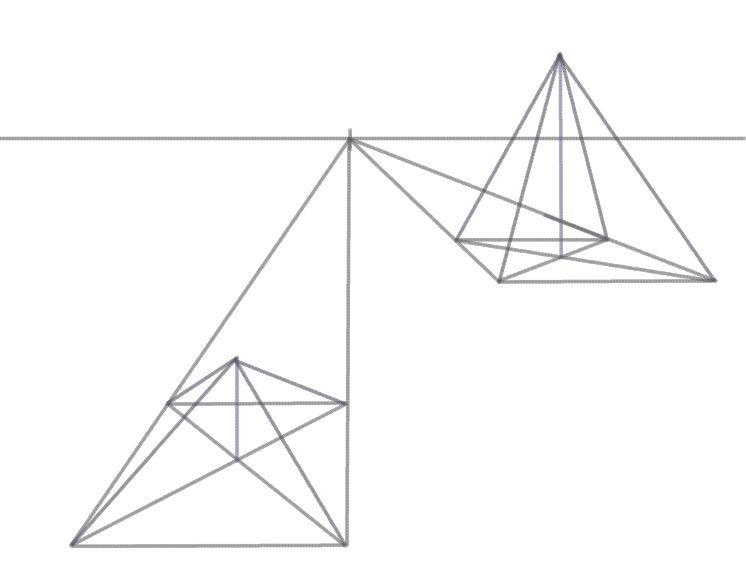 Drawn pyramid simple A Draw the Draw sides