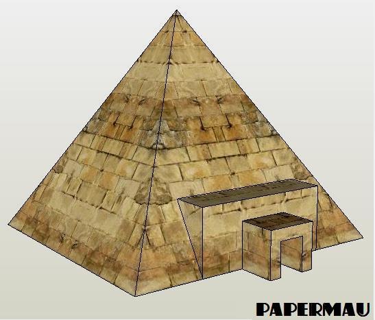 Drawn pyramid simple Download Dioramas Model PAPERMAU: And