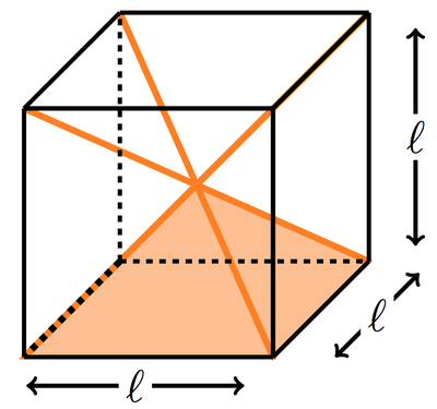 Drawn pyramid six Between center height its of