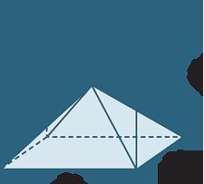 Drawn pyramid six The we six diagram diagonals