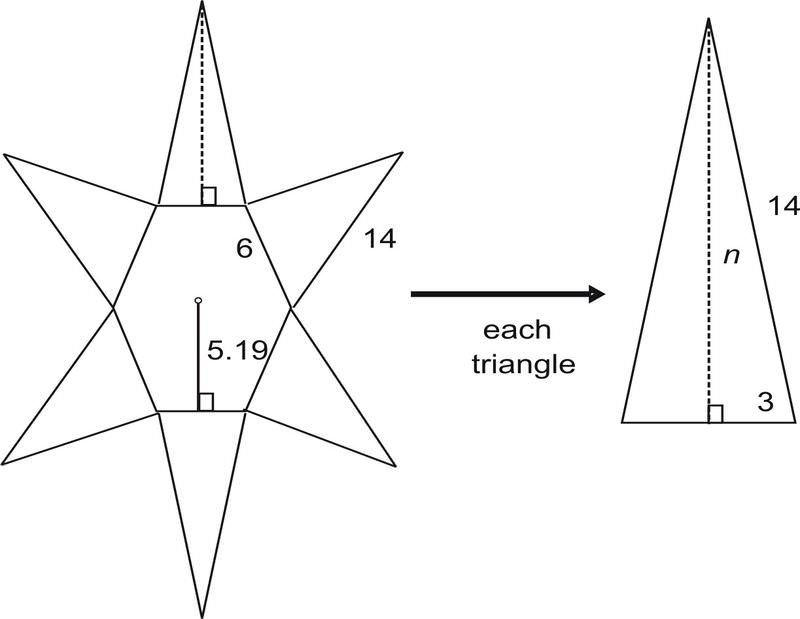 Drawn pyramid six Of by base sided the