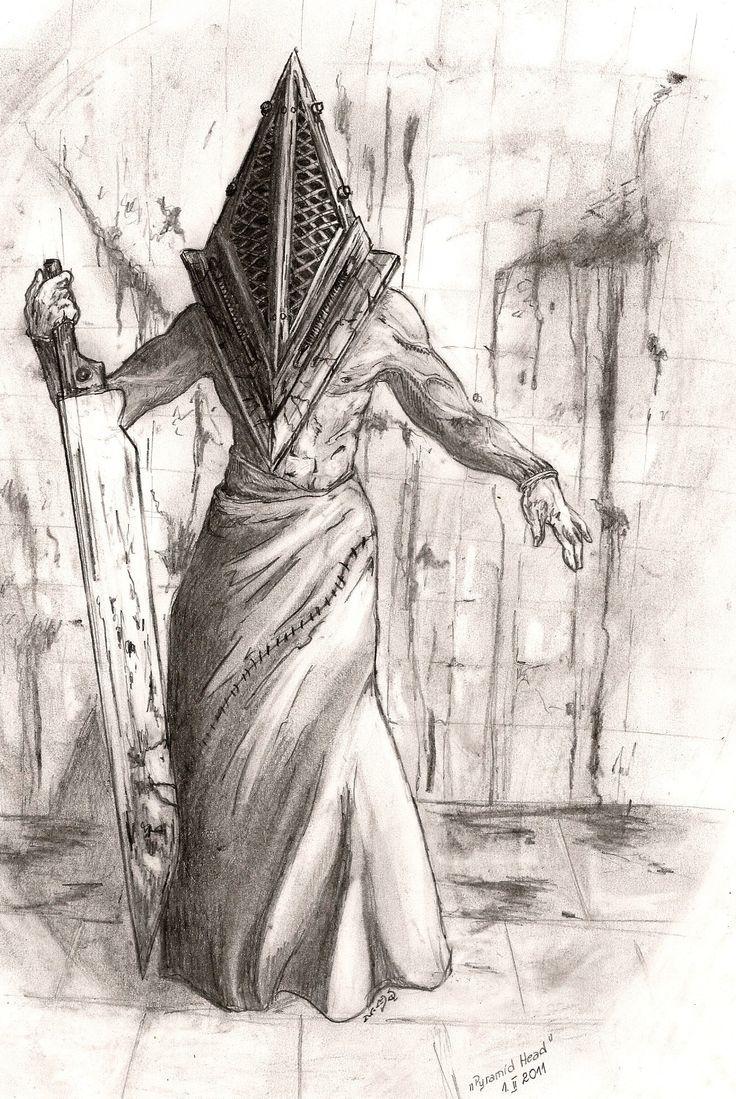 Drawn pyramid sketch I head Pyramid Doberlady if