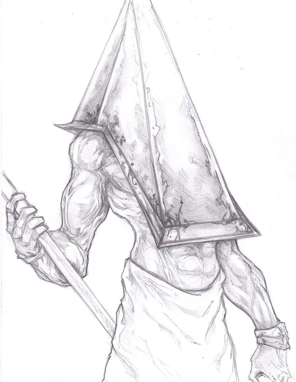 Drawn pyramid sketch On Pyramid Silent Head Hill