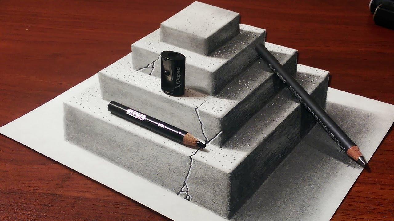 Drawn pyramid sketch Concrete Make Drawing Pyramid Anamorphic