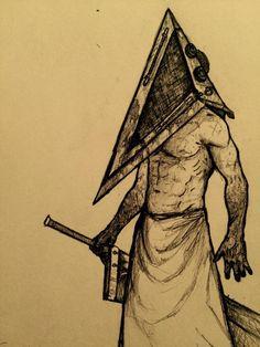 Drawn pyramid sketch Art Pyramid head Pinterest Pyramid