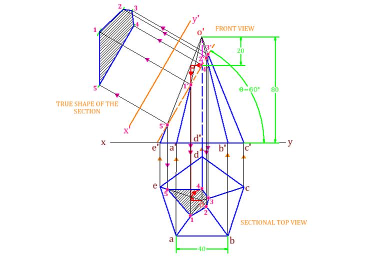 Drawn pyramid solid Of 3 7 Engineering Engineering